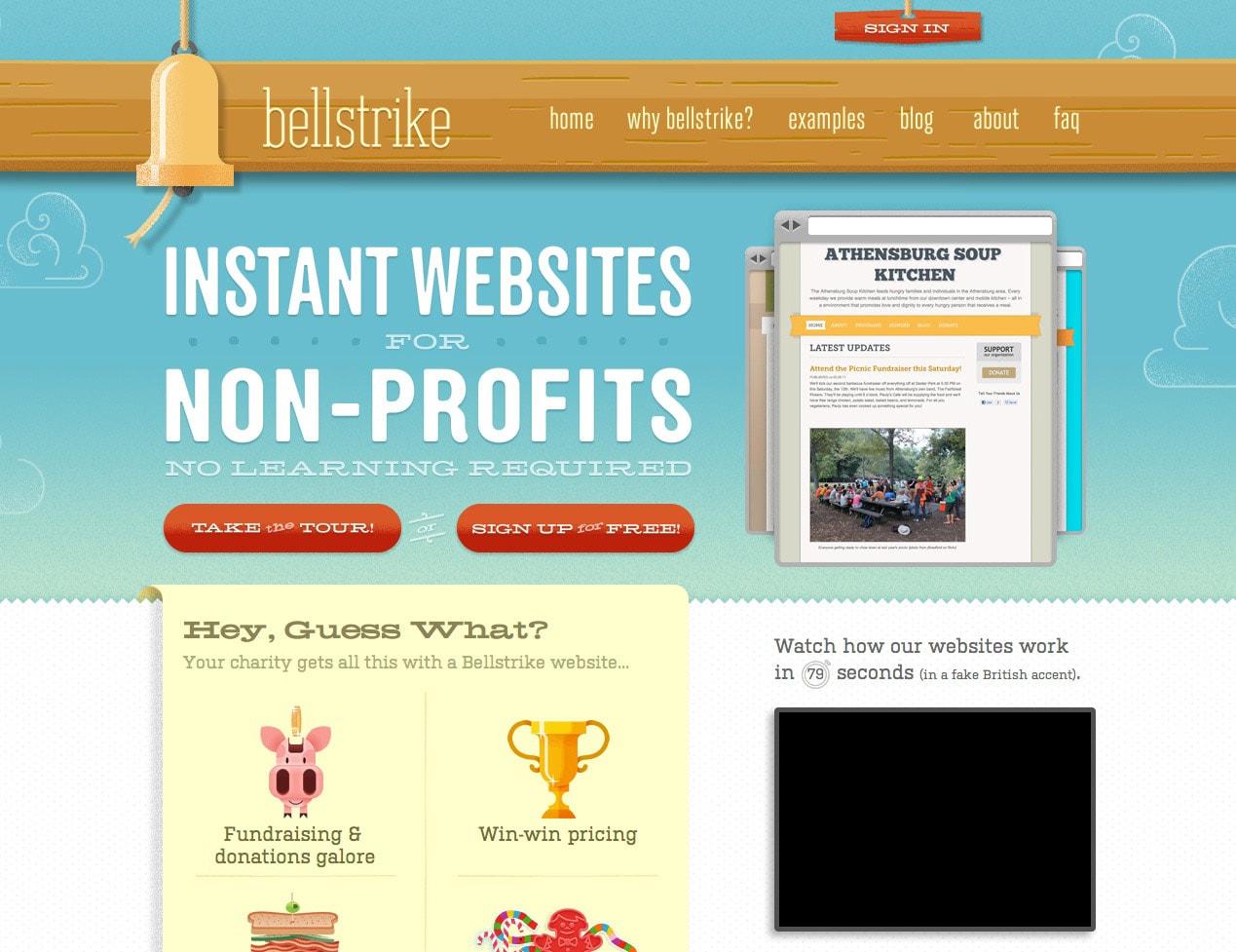 bellstrike website design