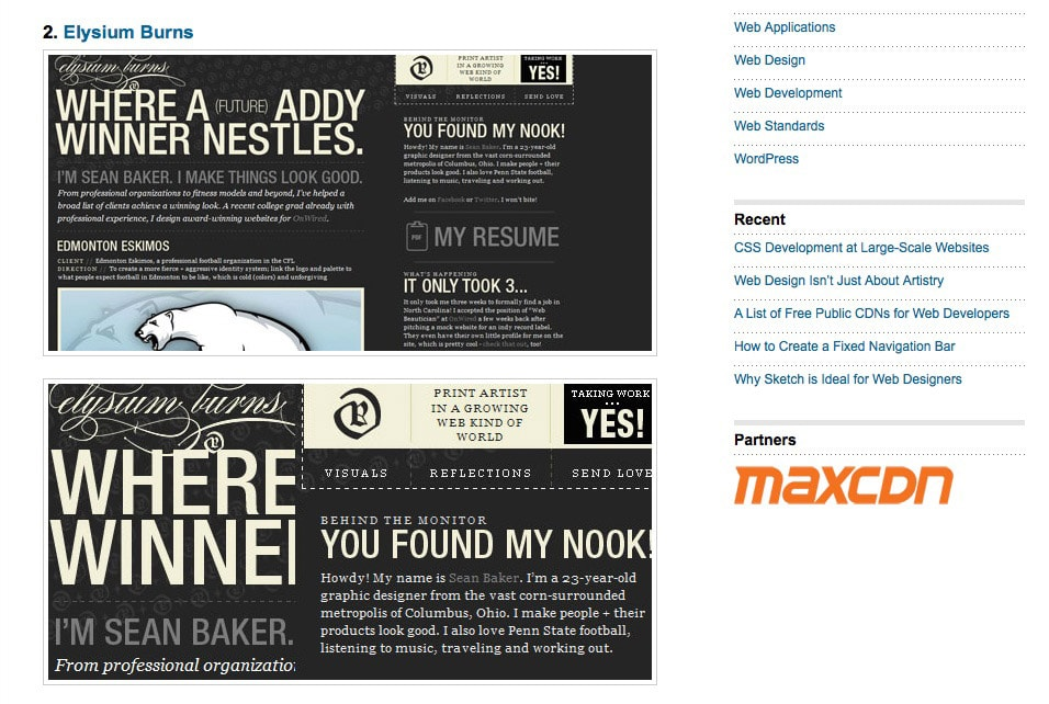 website design fonts