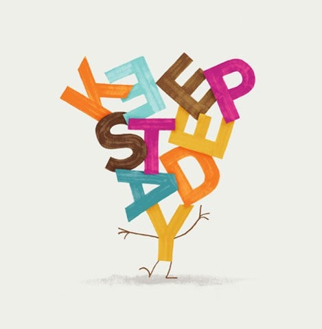 keep steady typographie