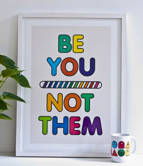 be you not them poster design