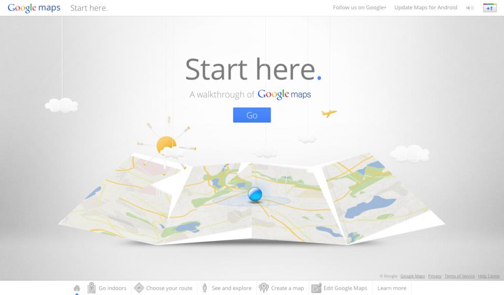 google maps walkthrough