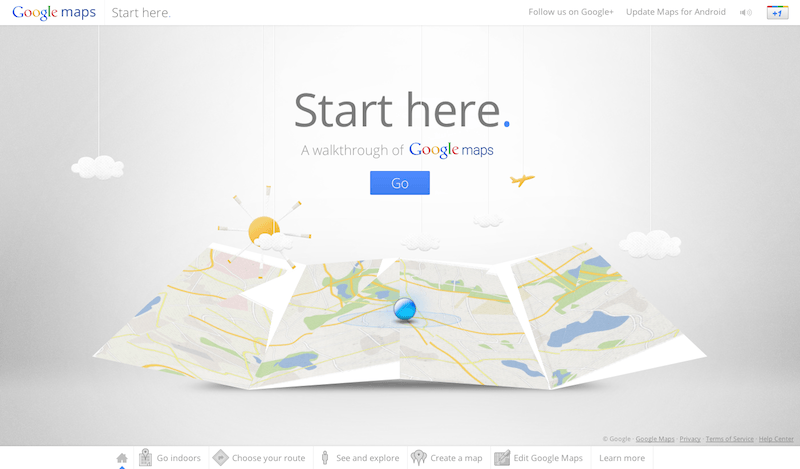 google maps walkthrough