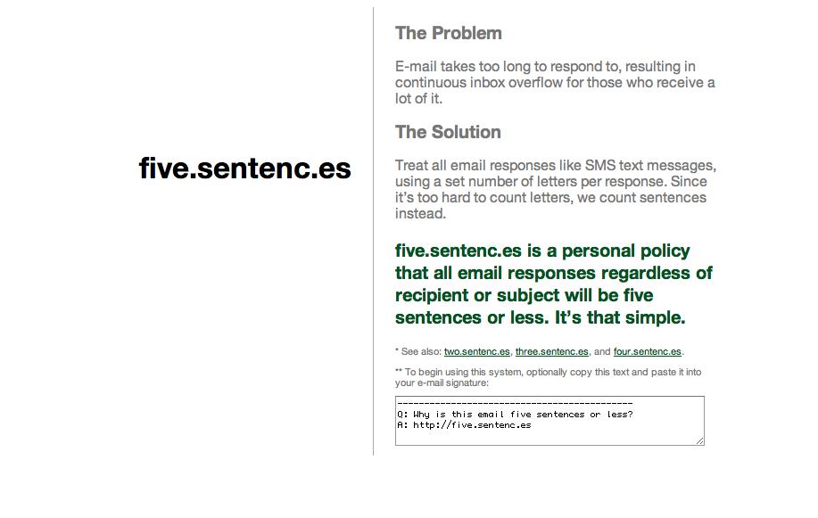 5 sentences