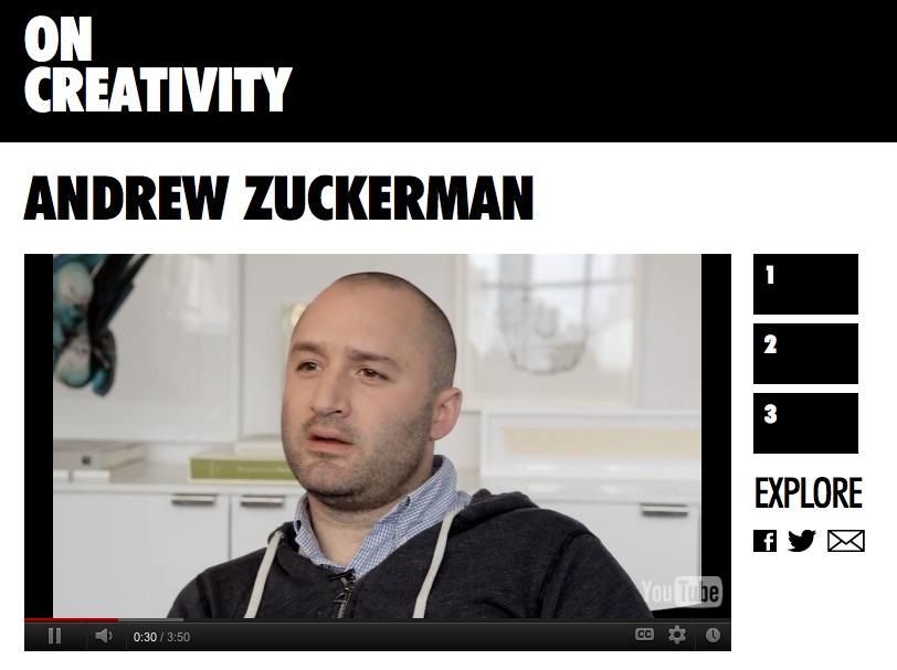 Kreativität, Andrew Zuckerman
