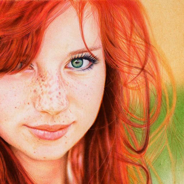 Redhead-Girl-Ballpoint-Pen