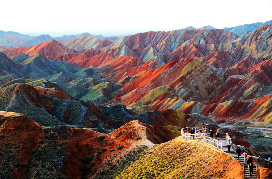 Zhangye Danxia Landform - Bild: unbelievableinfo.blogspot.it