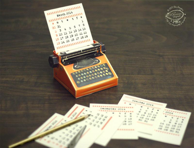 Schreibmaschinen Kalender