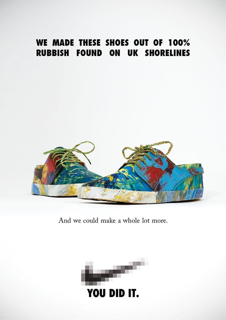 """""""Diese Schuhe bestehen zu 100% aus dem Müll, den wir an Englands Küste gefunden haben. Und wir könnten noch jede Menge mehr produzieren."""""""