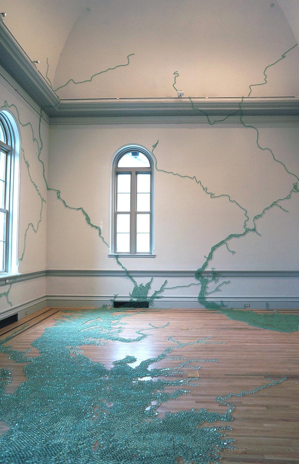 """Maya Lin, """"Folding the Chesapeake"""" (2015)"""