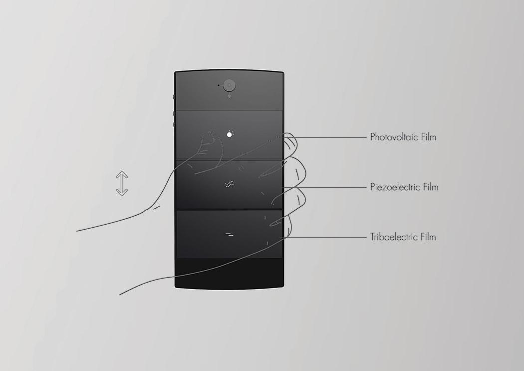 Delta V self-charging phone