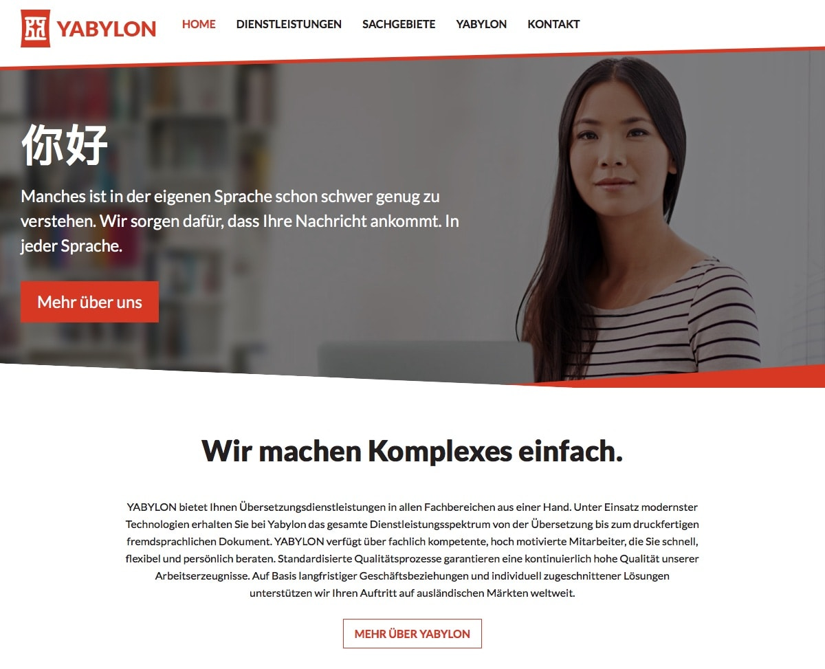 YABYLON Website Design