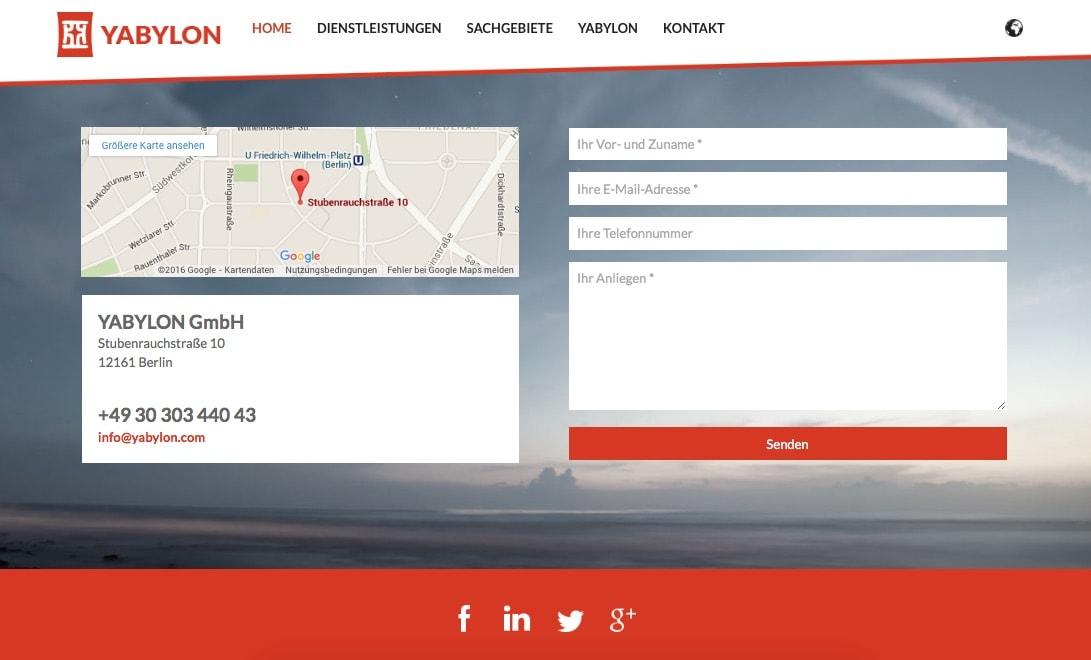 Yabylon Website Design