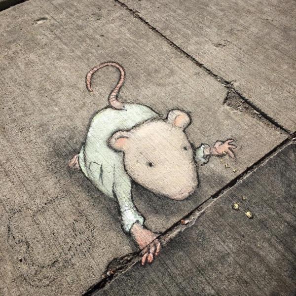 David Zinn Straßenkunst