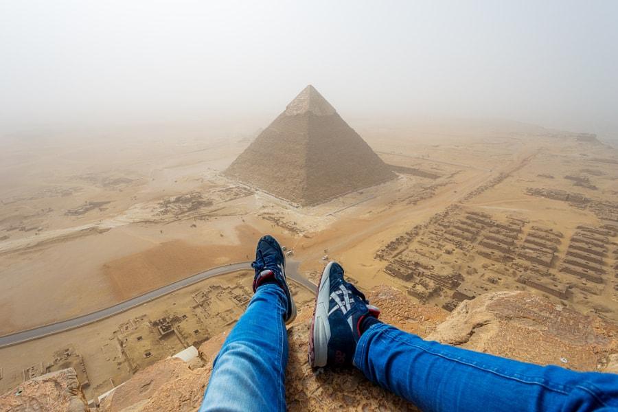 Great Pyramid of Giza by Andrej Ciesielski