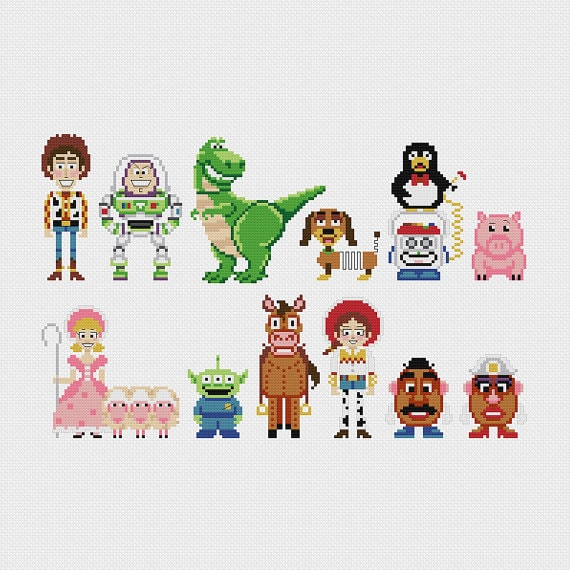Pixels in Stitches - Pop-Figuren