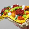 Pizza aus Lego-Bausteinen