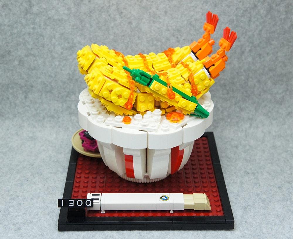 Tempura Reis aus Lego-Bausteinen