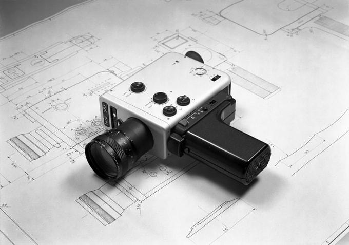 Braun Nizo 561 Kamera und Zeichnung