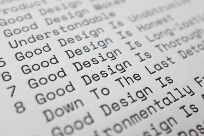 Die zehn Prinzipien guten Designs