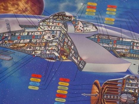 Cushman Startrek Enterprise Schnittbild Illustration