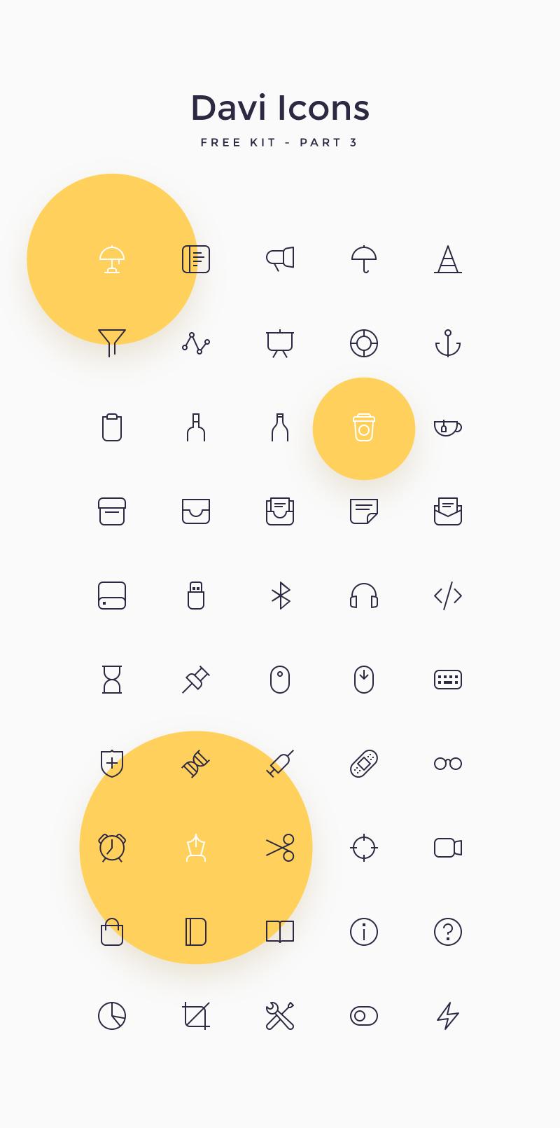 Davi Free Icon Set