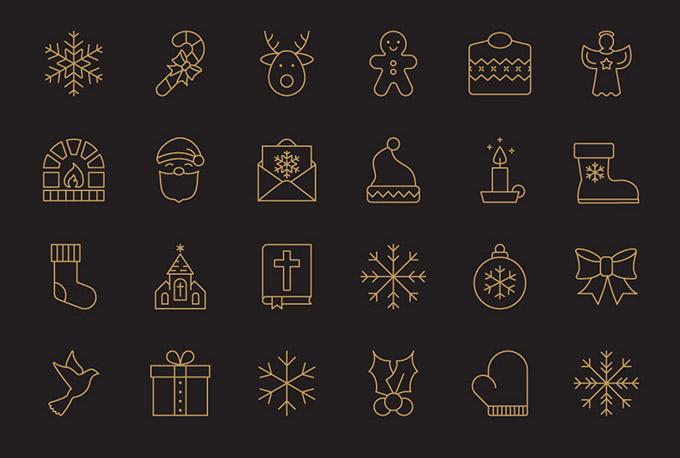 Kostenlose Icons Weihnachten