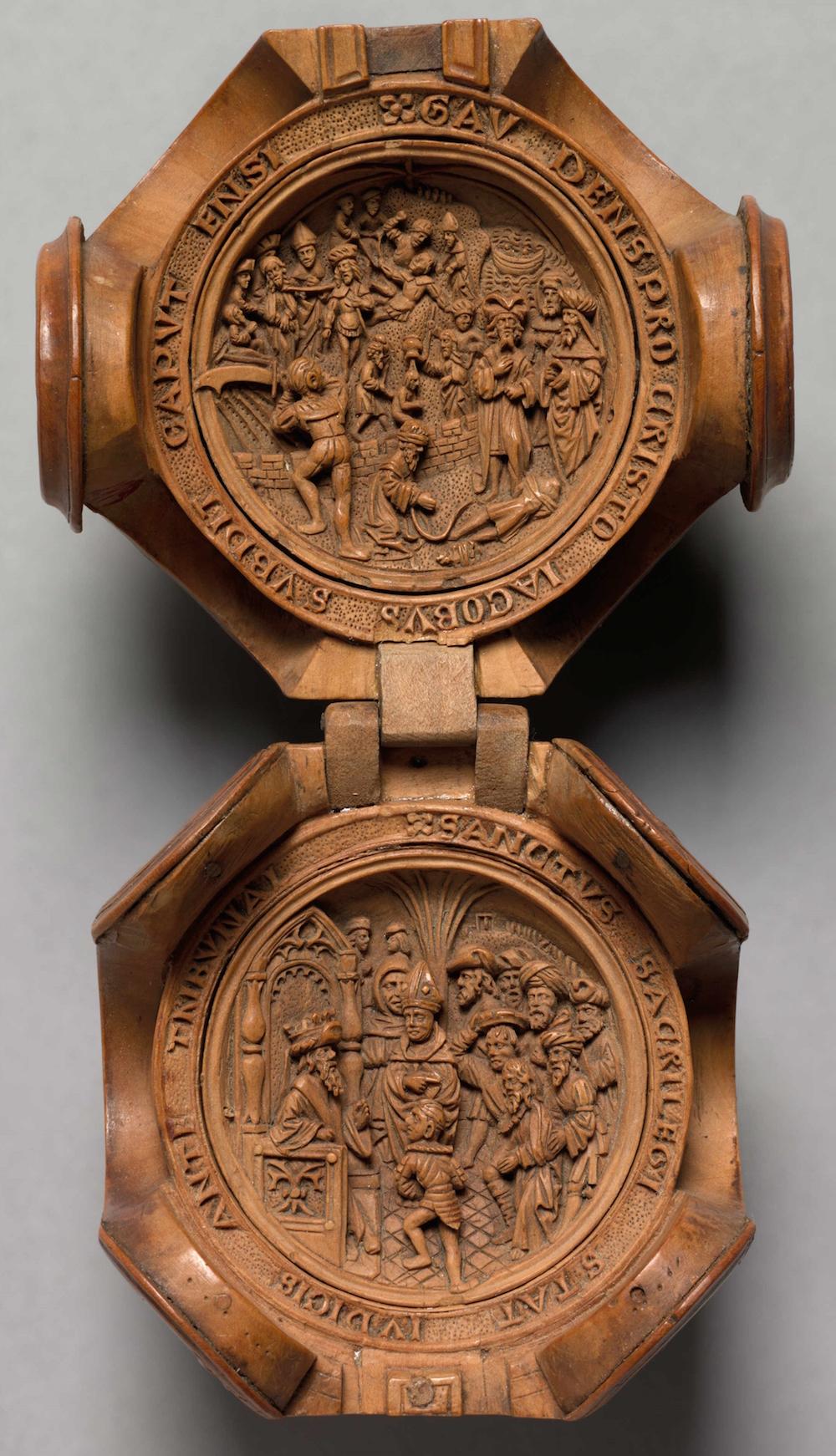 Buchsbaum Miniatur Schnitzereien aus dem 16. Jahrhundert