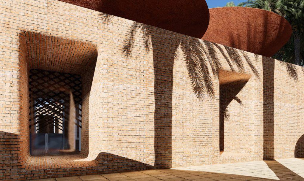 Cleveres Dach-Design sammelt Wasser