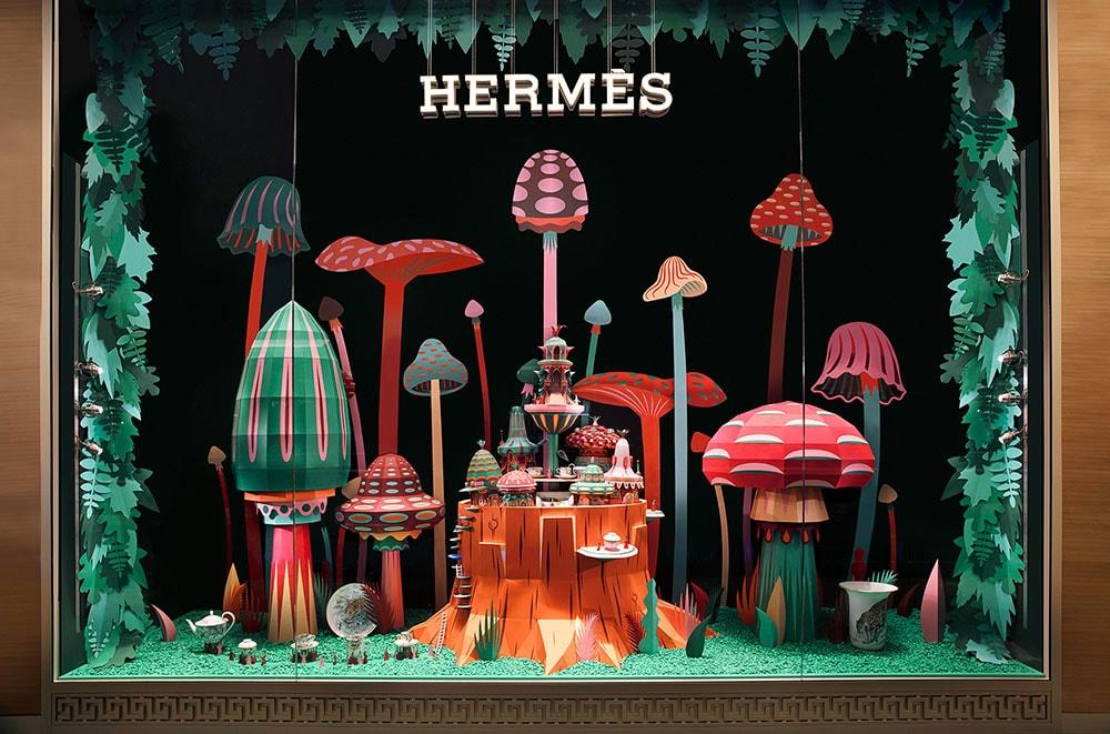 Zim & Zou Hermes Papier Installation
