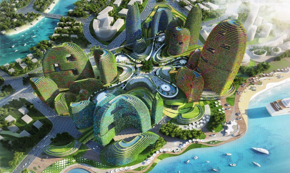 Futuristische Forest City in Malaysia