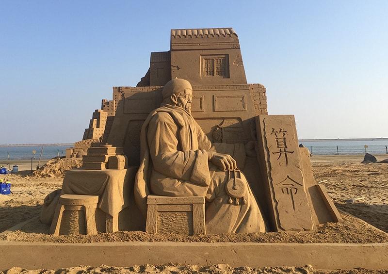 Toshihiko Hosaka Sandskulptur