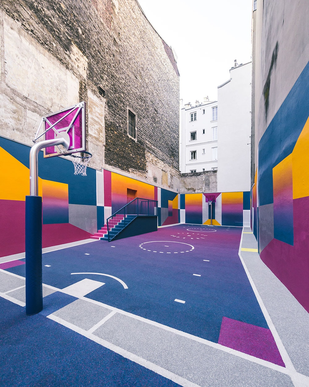 Paris Duperré Basketballplatz