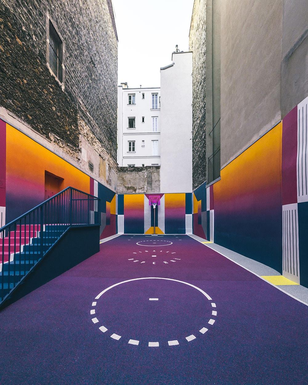 Paris Duperré Basketballplatz