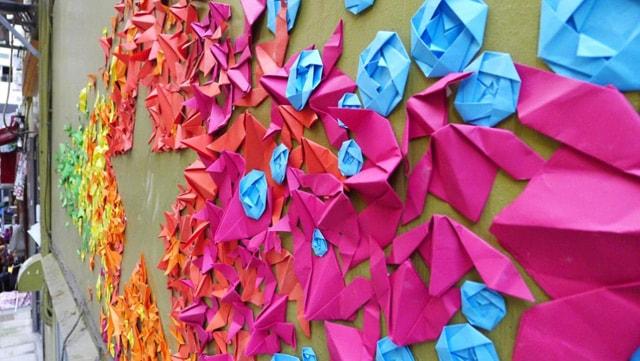 Mademoiselle Maurice Origami Street Art