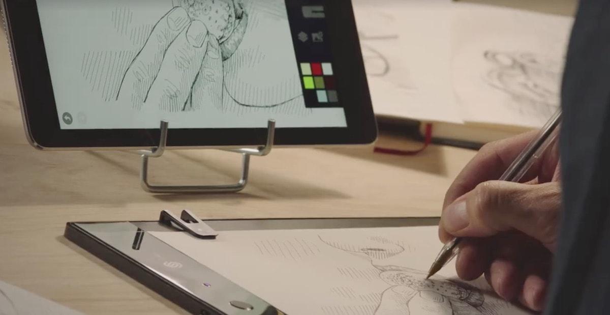 slate - digital zeichnen auf Papier