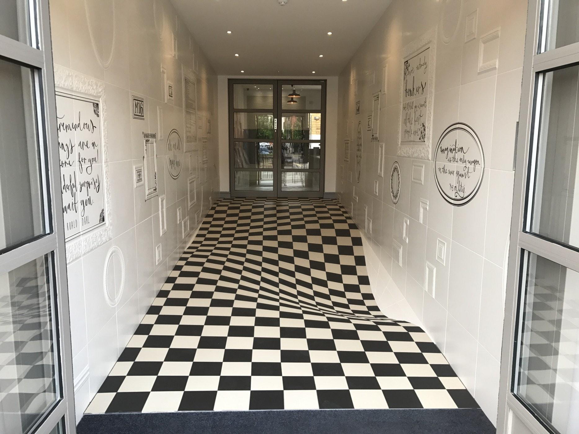 Casa ceramica Optische Täuschung