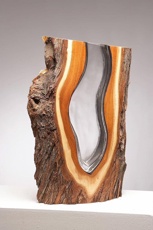 Scott Slagerman Wodd and Glas Skulpturen Design