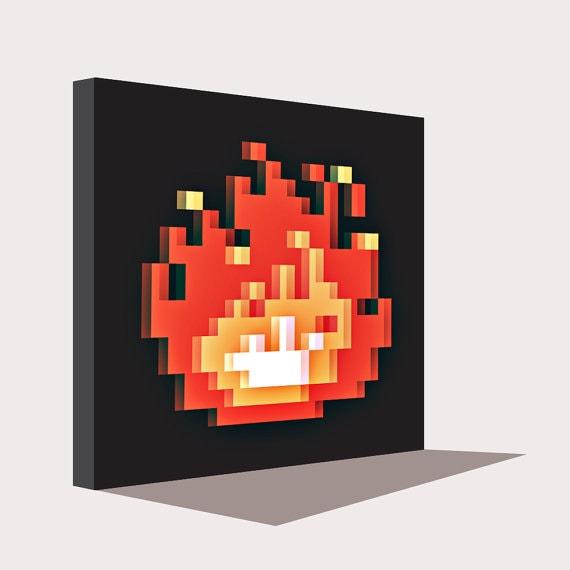 Zelda 8 Bit Kaminfeuer