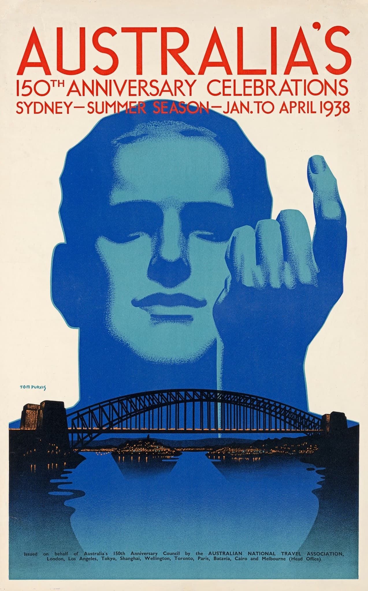 Plakatdesign Australien 1930er