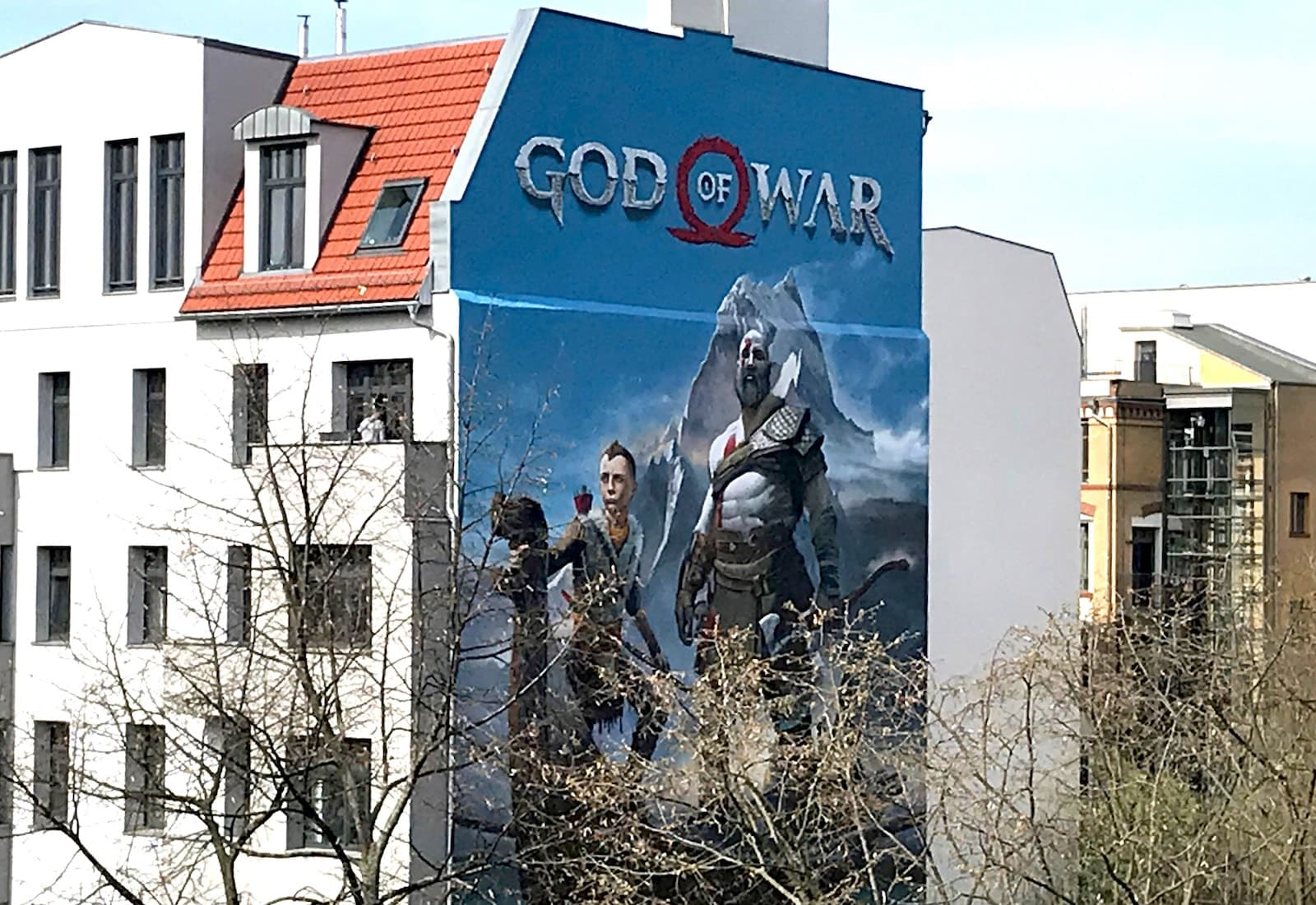 God Of War Wandbild