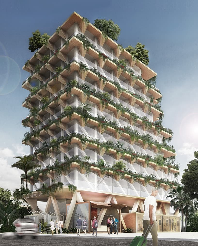 Amata Triptyque Holzhaus Design