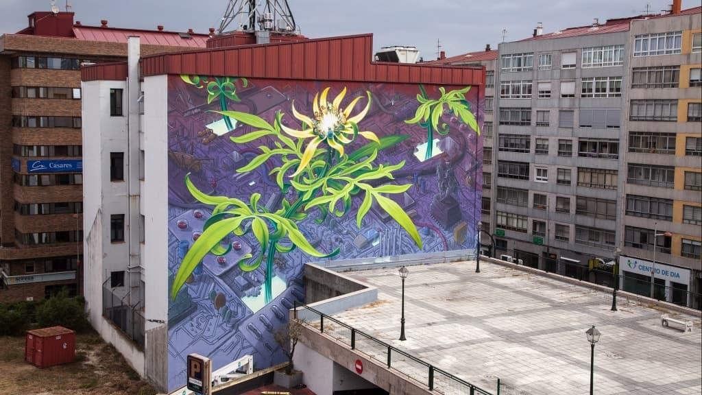 Mona Caron Flowers Mural Design