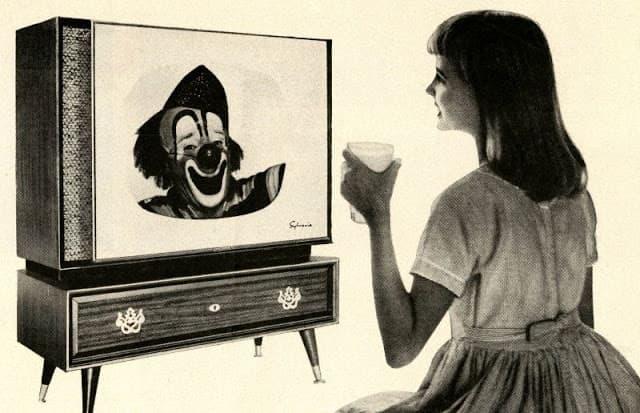 Fernsehgerätewerbung aus den 1950ern