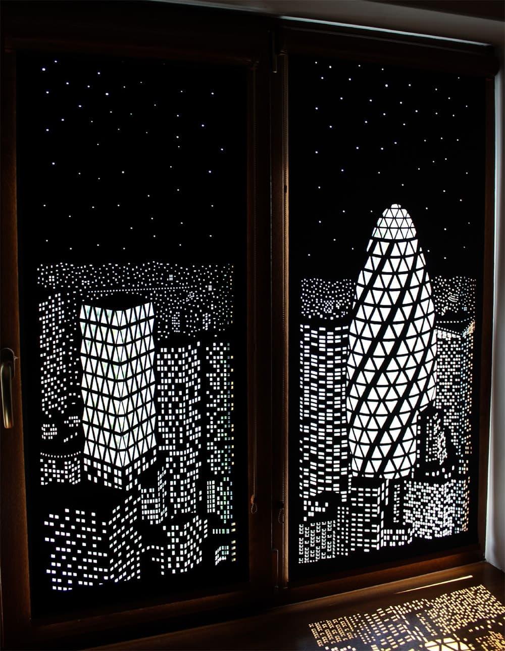 Hollroll Bilderjalousien Skyline Design