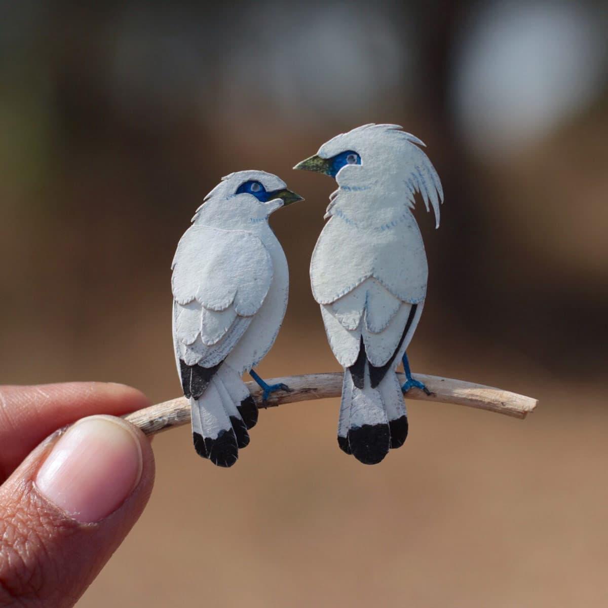 Shrimali Chudasama Miniature Birds Design