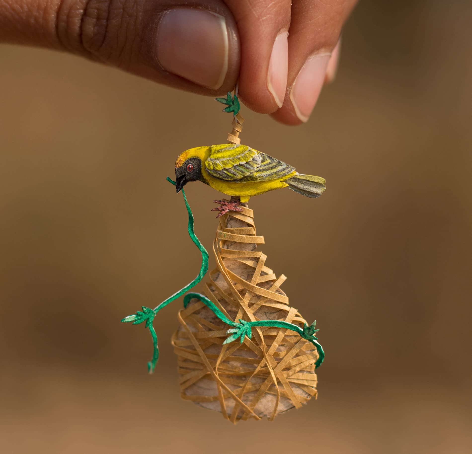 Shrimali Chudasama Miniature Birds Design