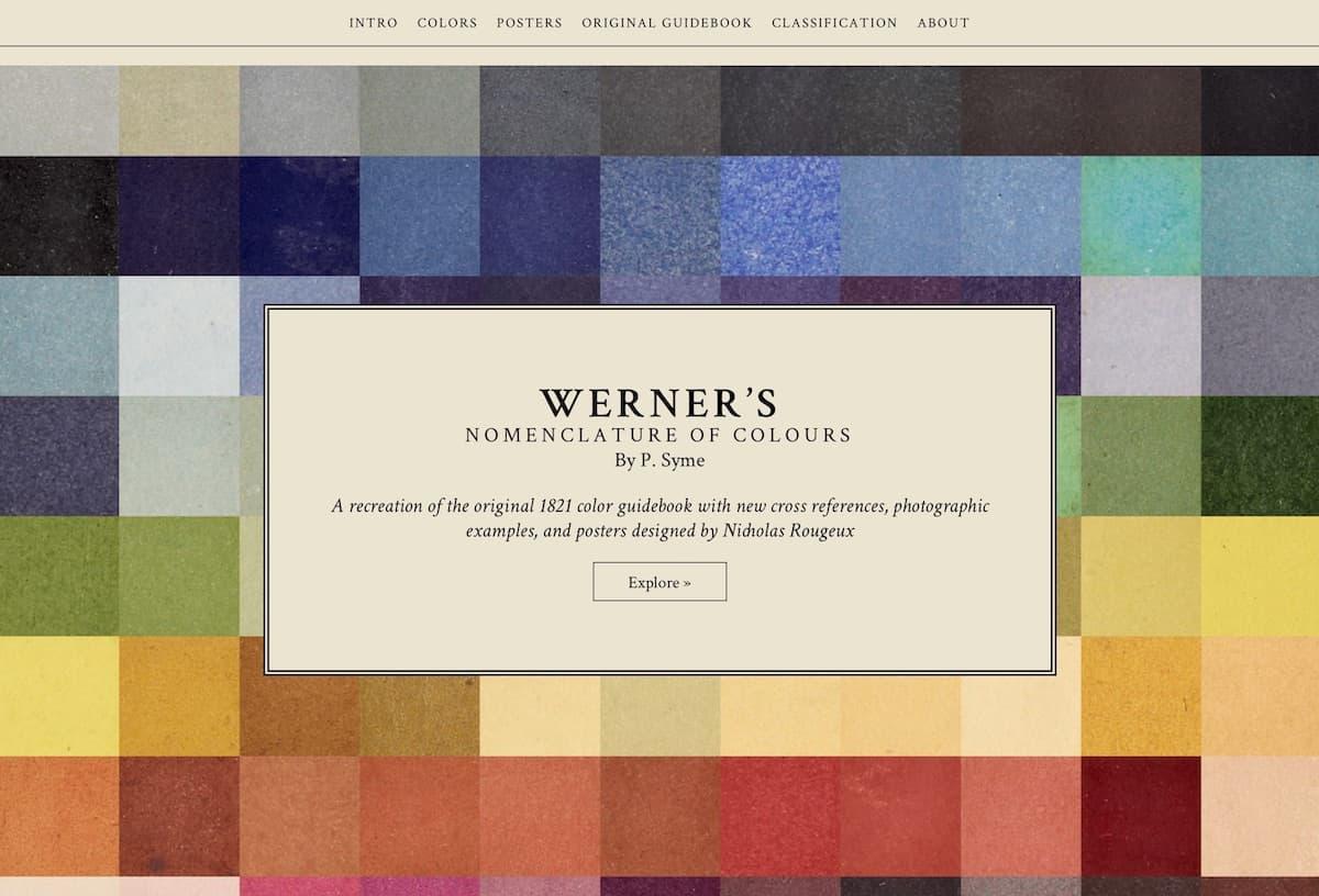Werner's Nomenklatur der Farben Web Special