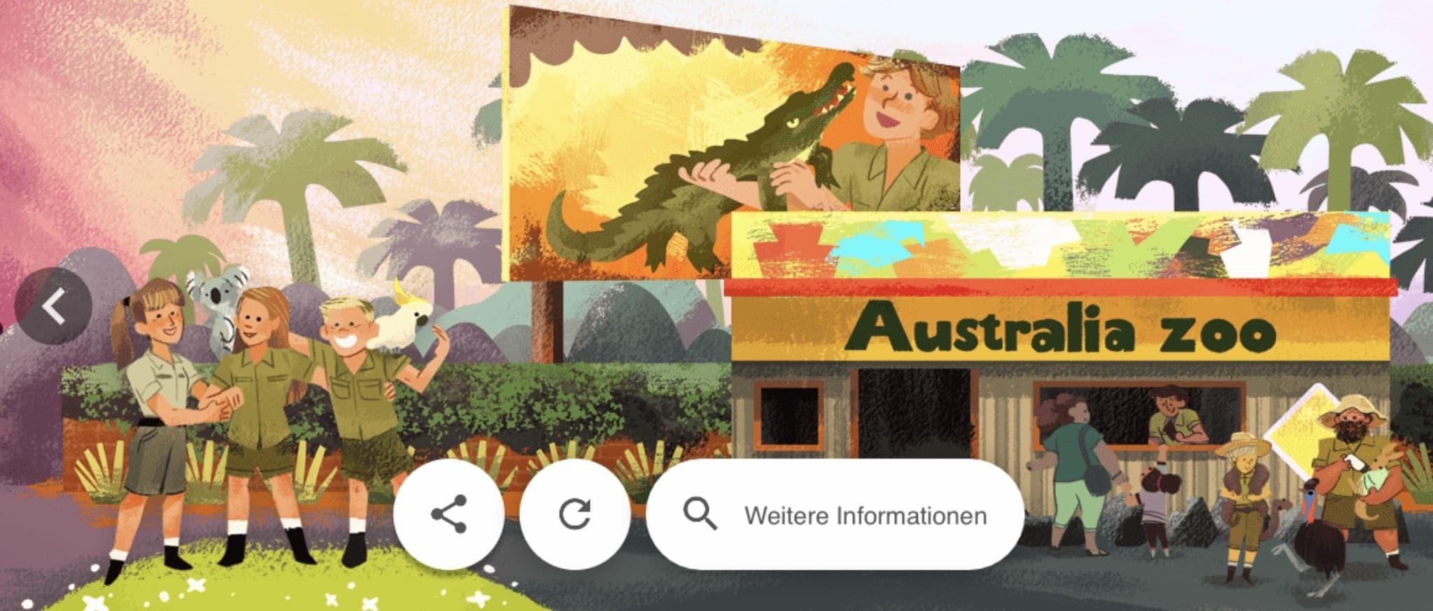 Steve Irvin Google Doodle Design