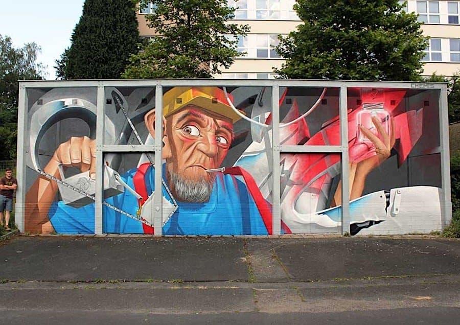 Street Art - Optische Illusionen von Chemis