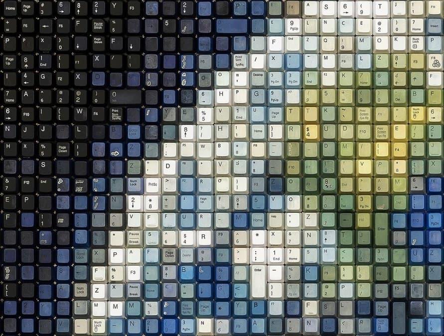 Erik Jensen - Kunstwerke aus alten Tastaturen